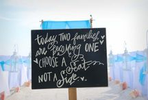 Beach Wedding Signs / Florida beach weddings and vow renewals tailored to your vision by Suncoast Weddings. Say it with signs on the beach!