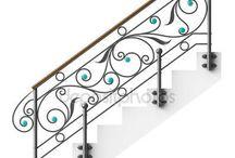 Лестницы из кованого железа