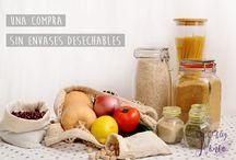 Cómo comprar sin plástico - plastic free / Esto es lo que yo utilizo para hacer una compra sin empaques plásticos y desechables. Alimentos, productos de higiene personal y limpieza del hogar, a granel o hechos en casa (DIY). Más en www.ecoblognonoa.com