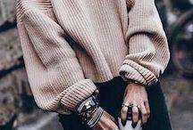 maxi maglione e giacca doppio petto