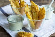 Kartoffelecken mit Dip