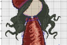 Cross stitch - Dolls