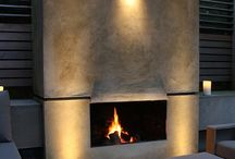 Garden fireplaces and fire pits / Fireplace and fire pits in gardens by Charlotte Rowe Garden Design