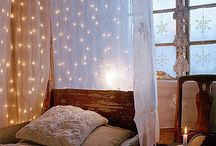 I love string lights after Xmas / String light inspiration and ideas.