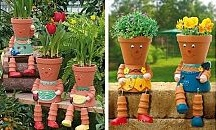 Gardening-clay pots / by Susan Reeves
