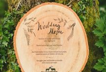 Wedding boards and typography