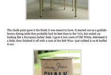 For the home -Chalk Board Paint Ideas