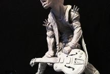 Punk Rock sculpture / This board is about sculpture and art inspired by punk rock, war, and aggression.