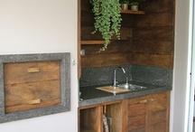 áreas de churrasqueira/cozinha externa