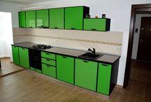Mobila Bucatarie Sticla Verde