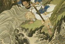 Samurait ja liittyvä / Japanin (Nippon) saarelta vaikutteita ja sieltä levinneitä.