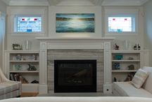 Gina Sarro landscape paintings installed / Collections of Gina Sarro landscape paintings
