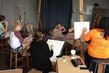 Studio Scenes / Ideas from easels to model poses