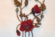 Bead flower->Çiçek modeli kolyeler