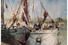 Yağlı boya tekne