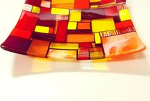 orange glass art by Jenie Yolland / all my pieces created using orange art glass