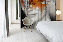 Wallpaper on wall