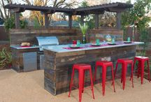 Outdoor kitchen / Outdoor kitchen, cooking Al fresco