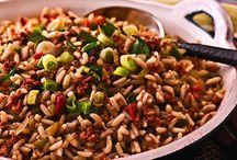 {Pasta} & Grains & Legumes / pasta, oats, rice, couscous, quinoa, beans (red, white, black, pinto, lima, etc.), peas, corn, lentils / by Mary Eichman