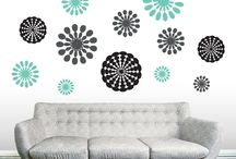 Flowers and Shapes Decals