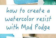 Watercolor Tips and Info / Ideas, tricks and tips for watercolor and watercolor pencil