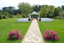 outside wedding aisles / Every bride has their own style and we help them find it.