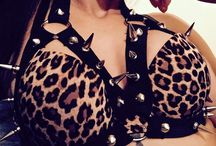 Cage bras / Spiked and chained.