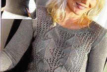 Вязанье Блузы Пуловеры спицами для женщин