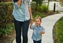 Moda igual / La hermosura de la moda igual en la familia