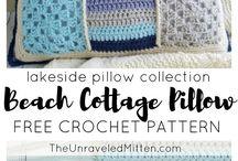 beach cottage pillow