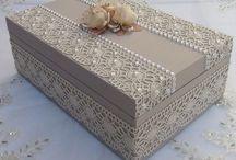 Caixa mdf com pérolas luxo