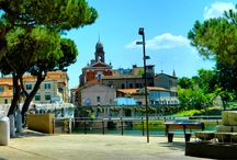 Old town, architecture and holiday resort -Rimini - Italy