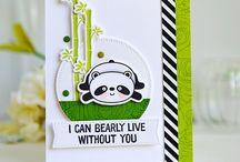 MFT - Happy Panda stamps & dies cards