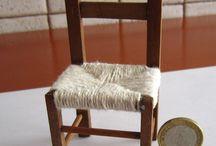 miniatury krzesła,fotele