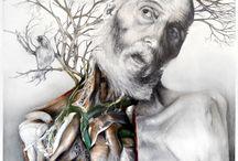 Memories of a Body / Memorie di un corpo / Title: Memories of a Body / Memorie di un corpo Dim: cm 60x60 Technique: oil and pencil on canvas / olio, matita su tela Year: 2015