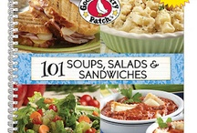 101 Soups, Salads & Sandwiches | Gooseberry Patch cookbook / These are recipes from our cookbook, 101 Soups, Salads & Sandwiches, that have been featured by some of our favorite bloggers! The names of the dishes are in the descriptions...click through for complete recipes.  Have YOU tried a recipe from this book? Email us (gooseberrypatch@gooseberrypatch.com) and we'd be happy to add you as a contributor to this board!