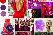 deco rojo y violeta matrimonio