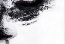 eye white black