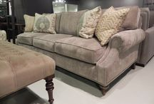 Living / Family Room / Beautiful Sofas, Settees, Chairs, Ottomans & Headboards are all available in a choice of fabrics or as COM. They are hand built in the USA by skilled craftsman.