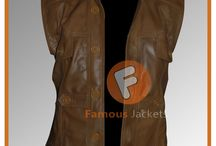 Defiance Joshua Nolan Distressed Brown Leather Vest