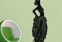 Modern Women / Beautiful, Elegant, Graceful & Modern Women's Wall Decals