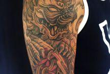 Foo Dog Tattoo Art
