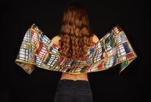 Pellegrinisilk - silk painting / Silk scarfs, Seidenschal