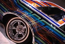 Chicano style painted cars / Chicano style painted cars on whitewalls