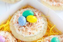 Easter sugar cookie bird's nests