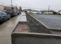 Sidewalk, Driveway and curbs