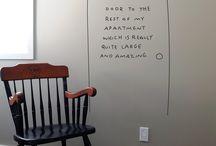 простые рисунки на стенах