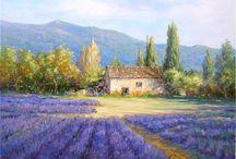 Lavender watercolours