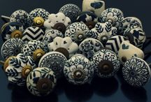 Just Black & White Drawer Knobs / Our Black & White Cabinet Knobs collection includes original and attractive designs in ceramic and also in natural bone and horn combination.