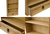 Wooden Storage Unit Cupboard Living Room Furniture Sideboard Rack Bookcase Shelf